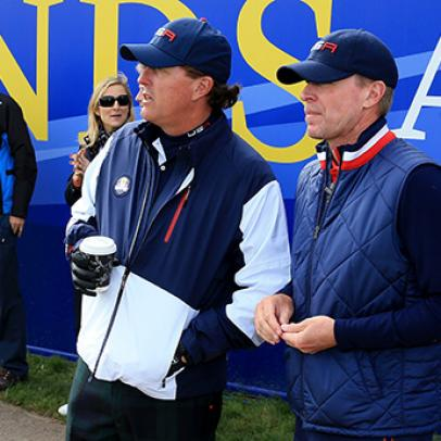 "Phil Mickelson on sitting out Saturday afternoon at the Ryder Cup: ""Whatever it takes to win"""