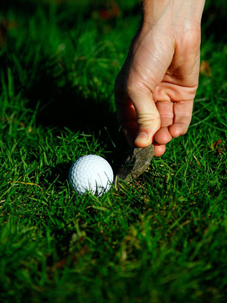 Don't penalize yourself if your ball moves by accident when you remove debris