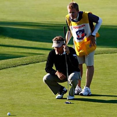 Langer Opens Title Defense With A Lead