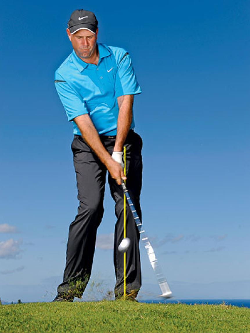 Slide the clubface under the ball on flop shots