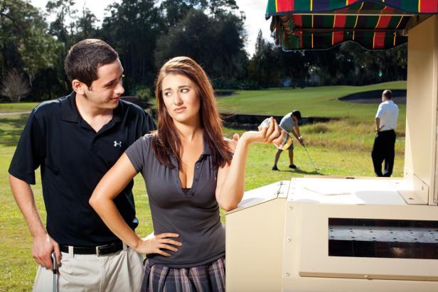 Hot girls in skirt hiddne The Secret Life Of Cart Girls Golf Digest