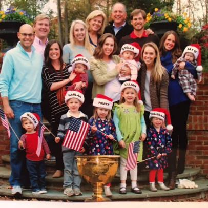 The Haas family Christmas card shows just how much the Presidents Cup win meant to them