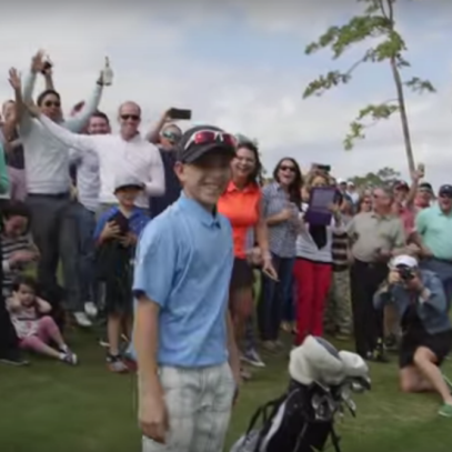 Watch Tiger Woods' Bluejack National course open with a hole-in-one