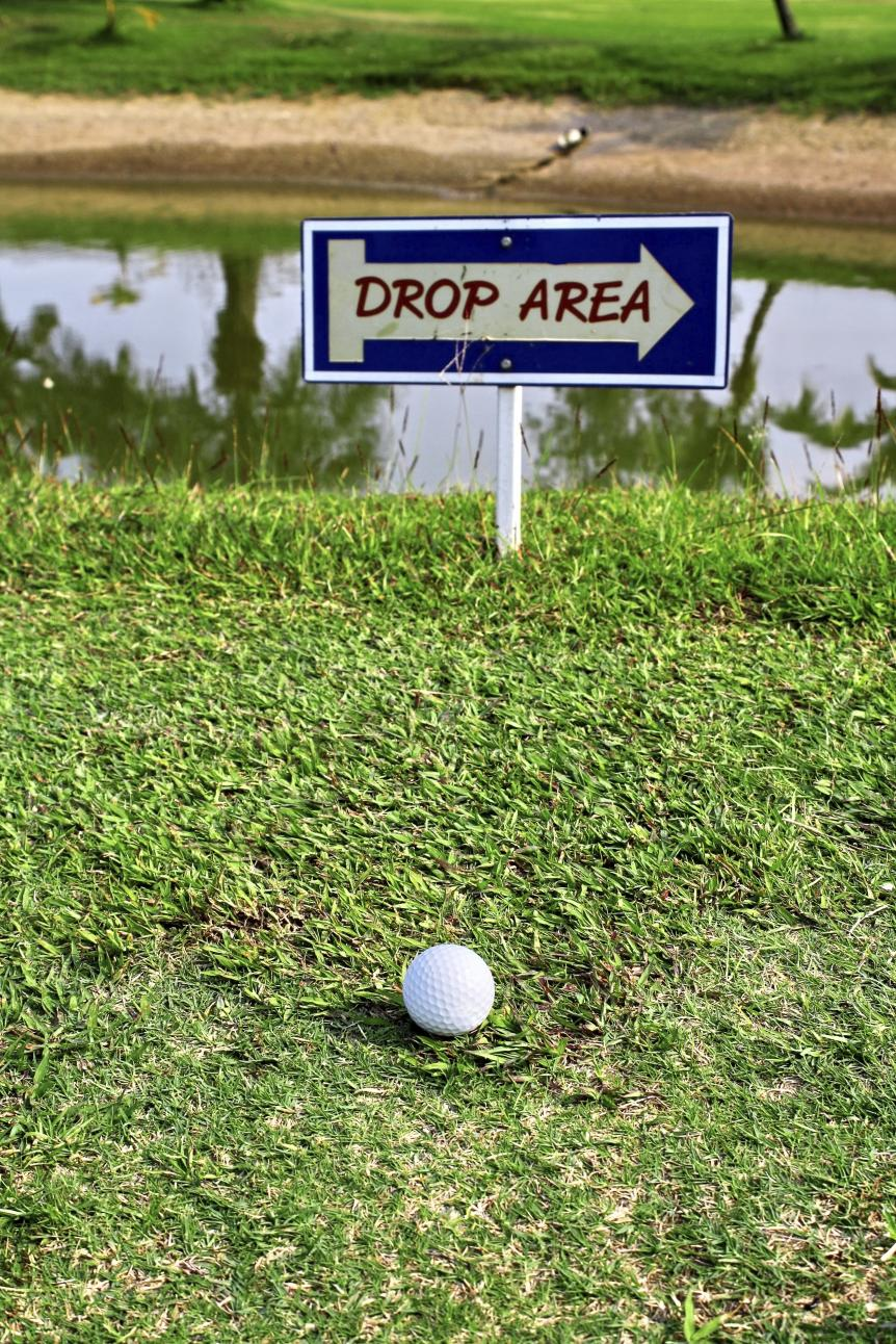The moment you notice a hole has a drop area, you ensure you'll be hitting from the drop area.