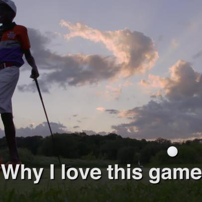 This 12-year-old's golf-themed rap video is probably not what you think it's going to be