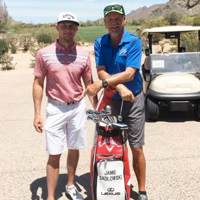 Former long-drive champ Jamie Sadlowski, with Gary McCord on his bag, wins U.S. Open local qualifier