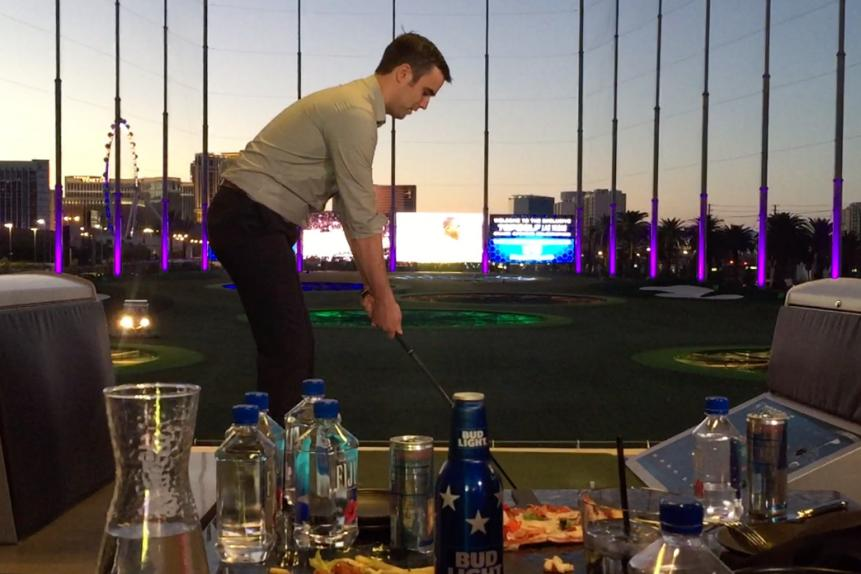 No matter what, you'll be hitting balls surrounded by food and booze (and water, lots and lots of water).