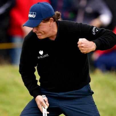 Trailing by one, Phil Mickelson knows there's work left to do