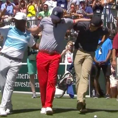 Watch Justin Timberlake, Stephen Curry and Alfonso Ribeiro dance at the American Century Championship on Saturday