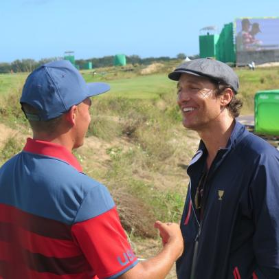 "Matthew McConaughey spent his last day in Rio ""taking a little walk with Rickie"""