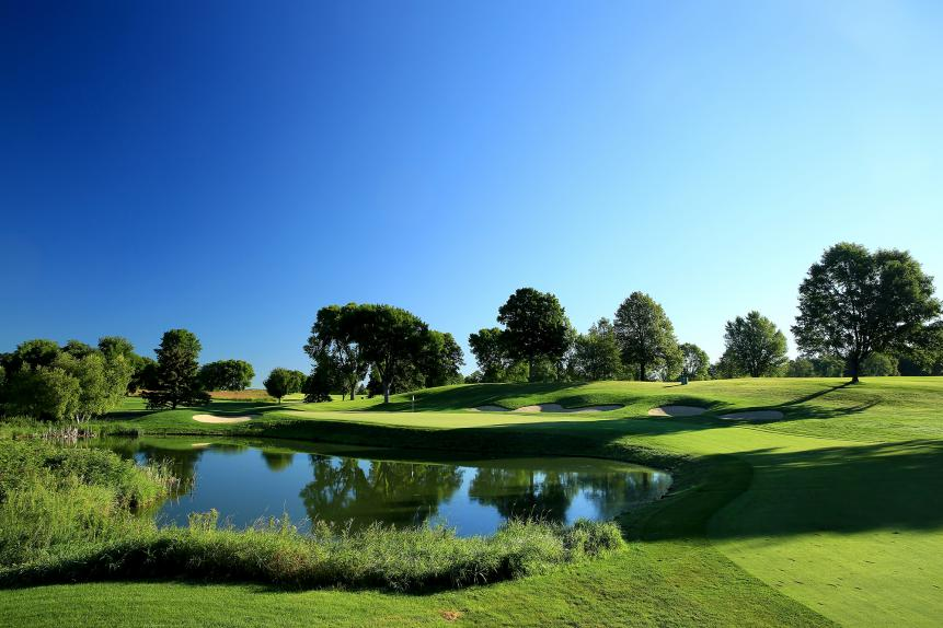 Hazeltine was configured to reward aggressive play, favoring the American's length