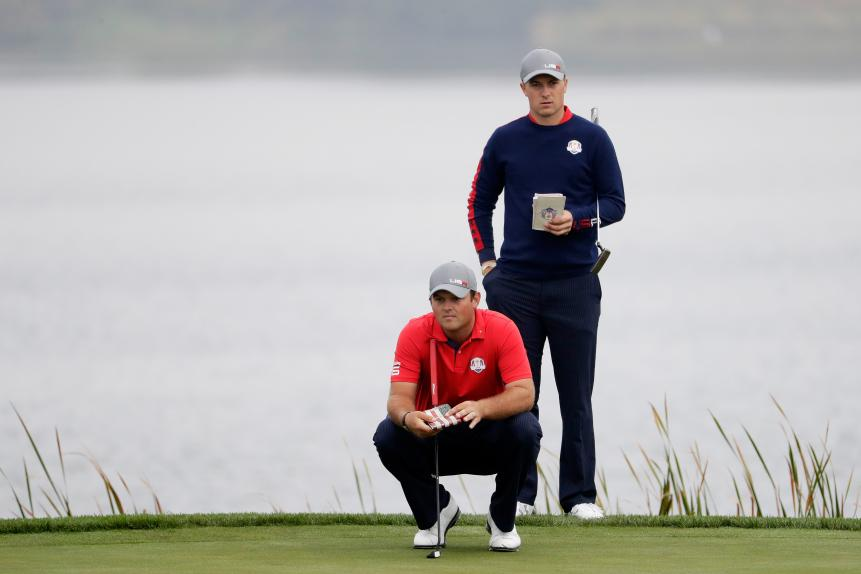 Birdie: Jordan Spieth and Patrick Reed