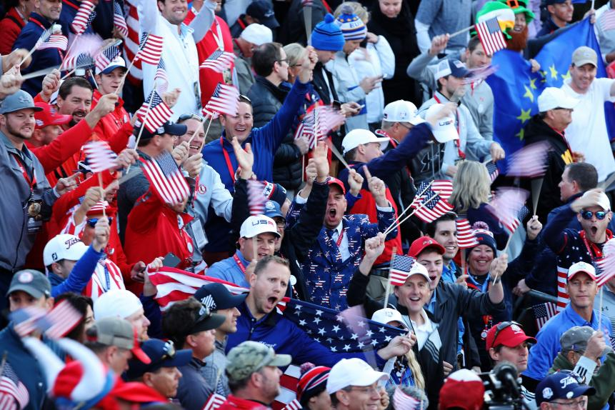 Though the Europeans said the boisterous pro-American crowd didn't affect their play, it at least galvanized the U.S. team