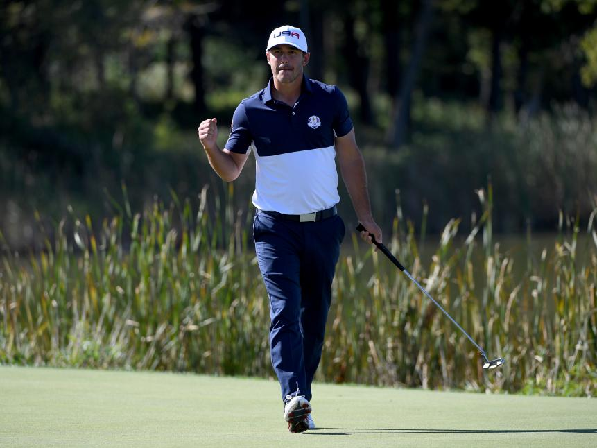Brooks Koepka, one of the two U.S. rookies, didn't play like a newcomer, winning three of his four matches