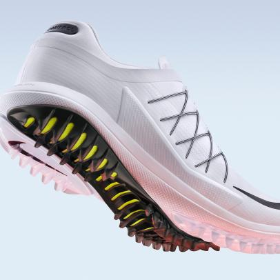 Rory McIlroy debuts new spikeless Nike Lunar Control Vapor shoes at the WGC-HSBC Champions