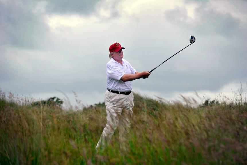 Does Donald Trump being POTUS help golf?