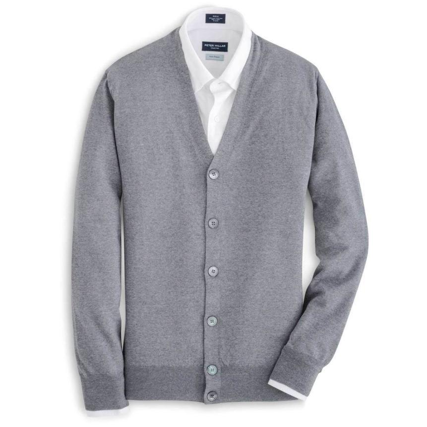 Peter Millar's Mirabeau cardigan ($398), made from merino wool and cashmere, can quickly class up an otherwise stale outfit.