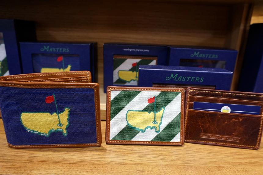 Needlepoint walletsThese needlepoint wallets ($115 for the wallet; $60 for the card case) are a perfect way to celebrate the Masters on a daily basis without being obnoxious about it. I've been using a card case as my wallet for two years now and it wears incredibly well over time.