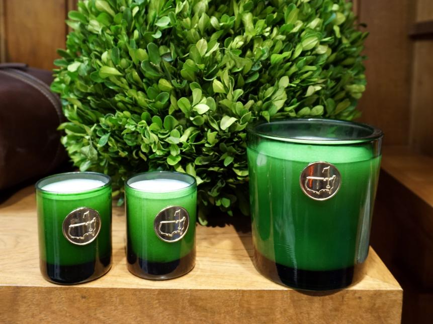 CandlesIf you're interested in bringing Augusta National's sweet scents to your home, look no further than these candles ($40 for a set of three small candles; $40 for one big candle). We smelled them and their fragrance is strangely spot-on.