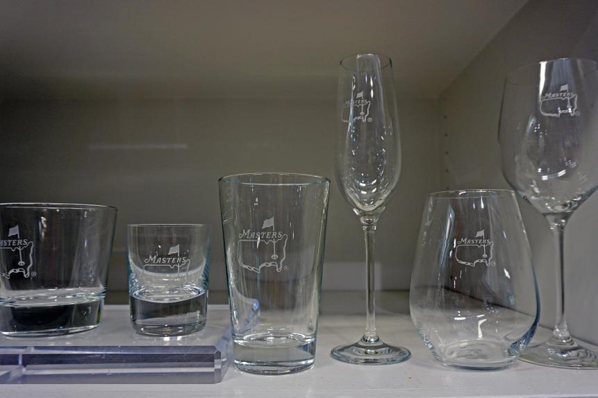 A variety of glassesWe love how subtle the Masters logos are on these glasses. As such, they celebrate the tournament in a classy, sophisticated way. The array of designs will ensure you'll find a style that best fits your drinking style.Champagne flute: $36 for a set of two Wine glass: $38 for a set of two Stemless wine glass: $38 for a set of two 14-ounce beer glass: $38 for a set of two 12.5-ounce whiskey glass: $38 for a set of two