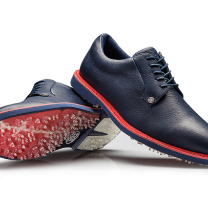What to wear now: Navy golf shoes