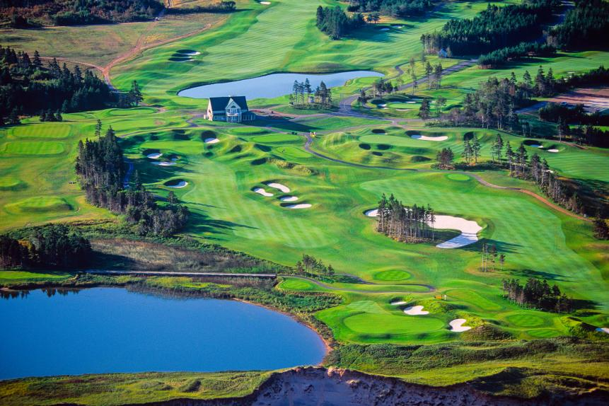 Aerial of The Links at Crowbush Cove, Lakeside, Prince Edward Island, Canada