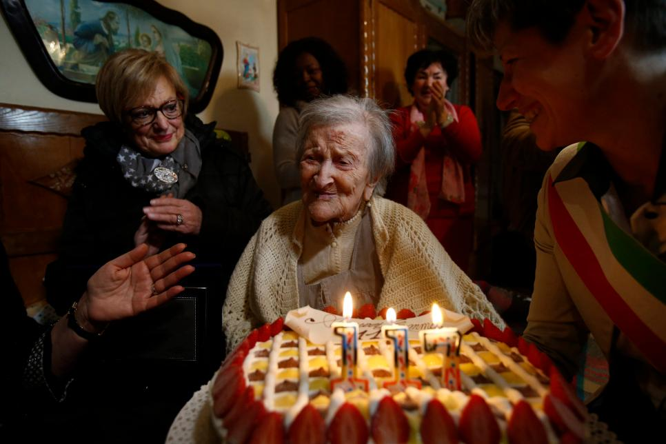 ITALY-VERBANIA-OLDEST LIVING WOMAN-117TH BIRTHDAY
