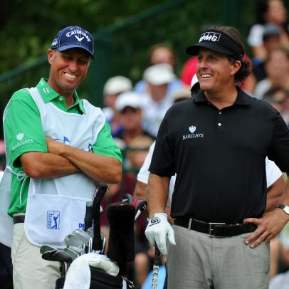 It's a must-watch reunion between Phil Mickelson and his former caddie at the WGC-FedEx St. Jude