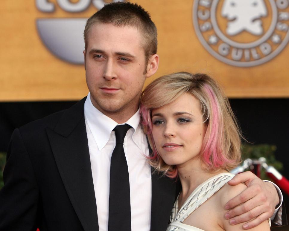 Actors Ryan Gosling and Rachel McAdams a
