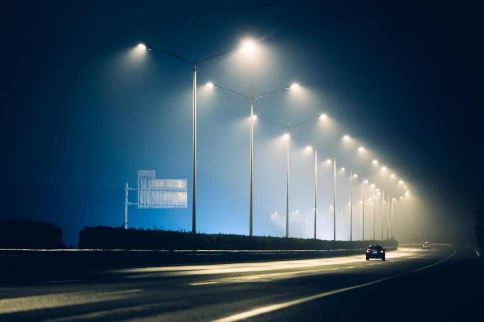 the highway lamps