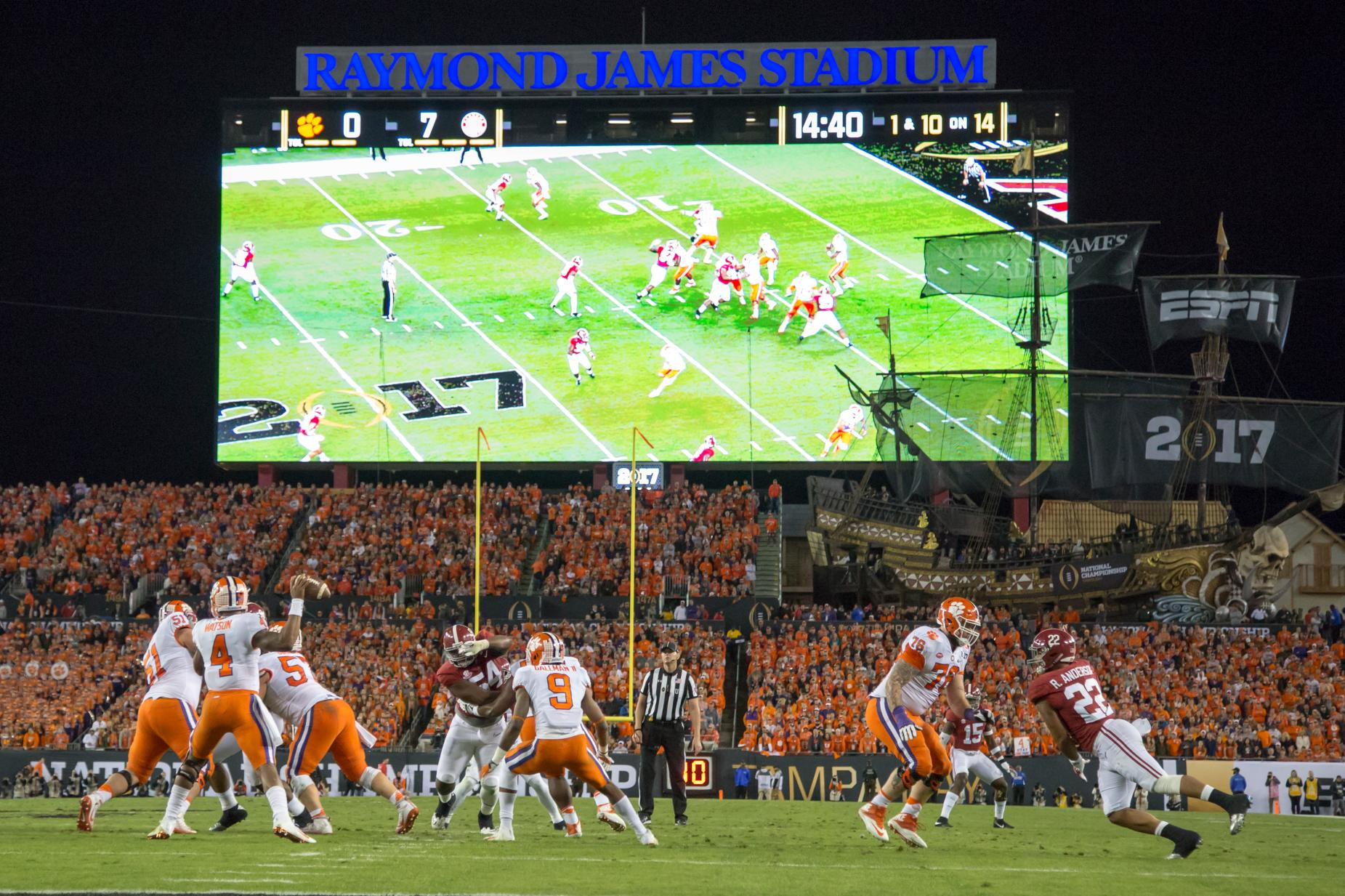 NCAA FOOTBALL: JAN 09 CFP National Championship - Clemson v Alabama