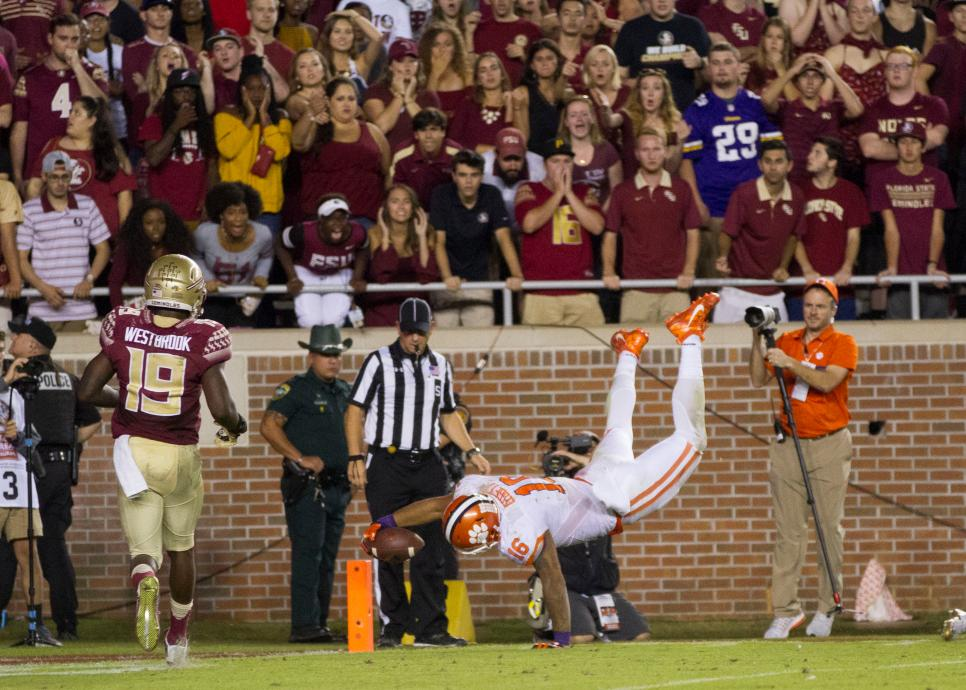 NCAA FOOTBALL: OCT 29 Clemson at Florida State
