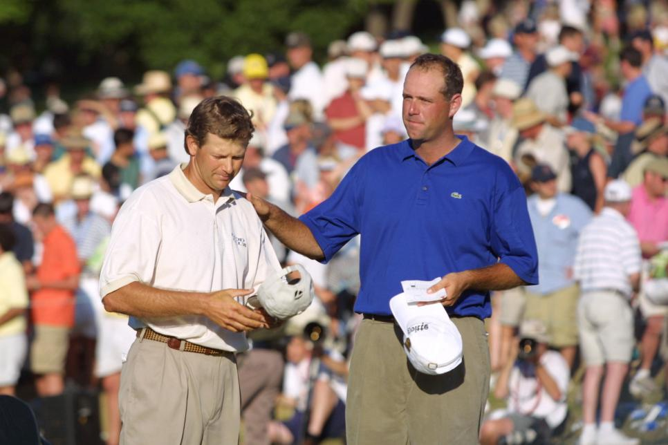 2001 U.S. Open Cink and Goosen