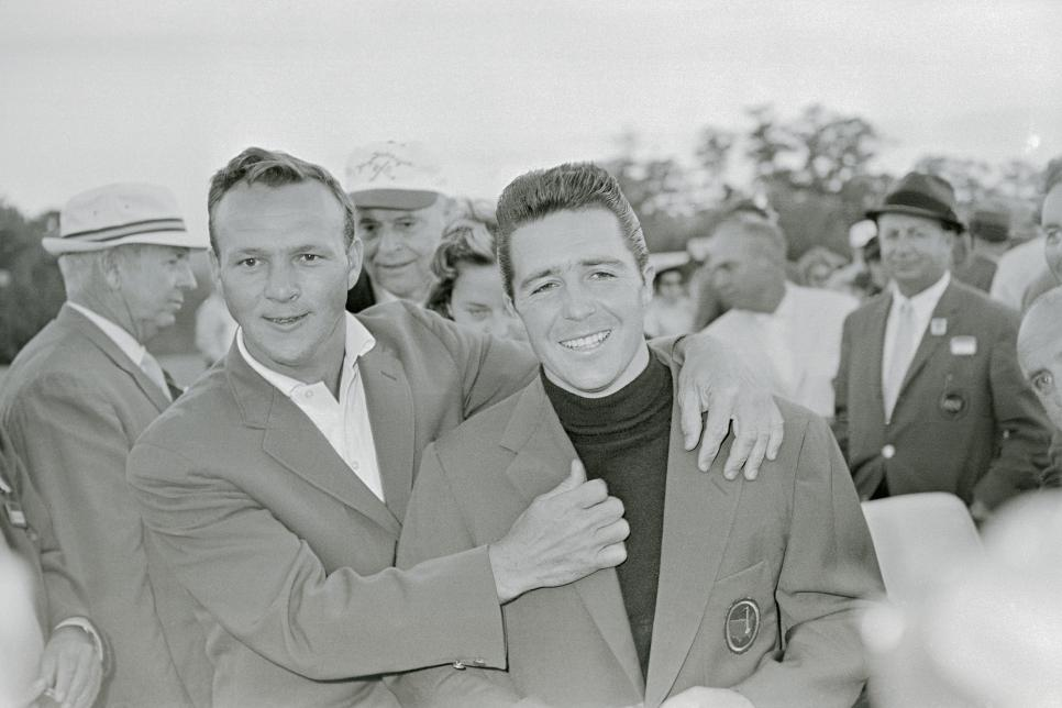 Arnold Palmer and Gary Player 1961 Masters
