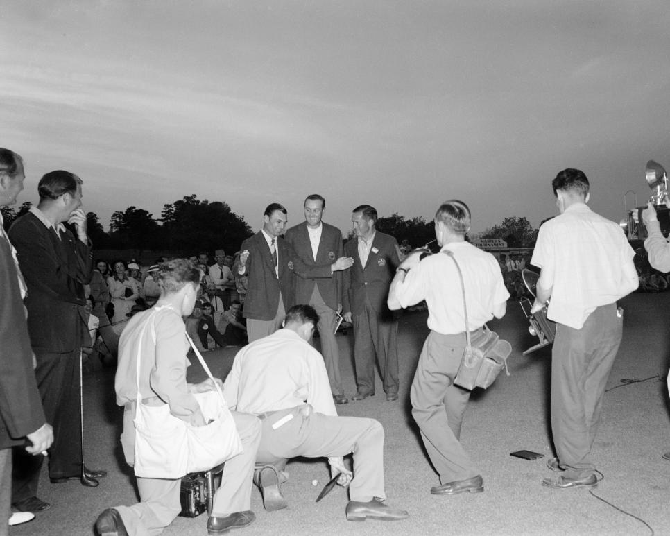 Ben Hogan, Herman Keiser and Bobby Jones 1946 Masters