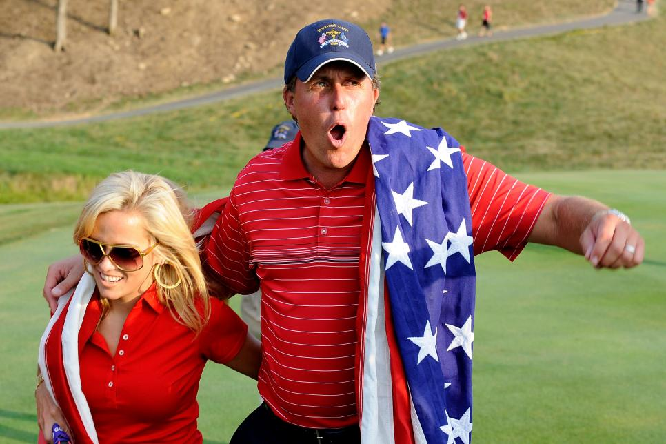Phil Mickelson and Amy 2008 Ryder Cup