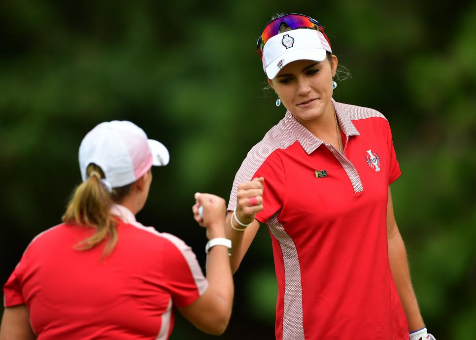 lexi thompson and cristie kerr Solheim Cup