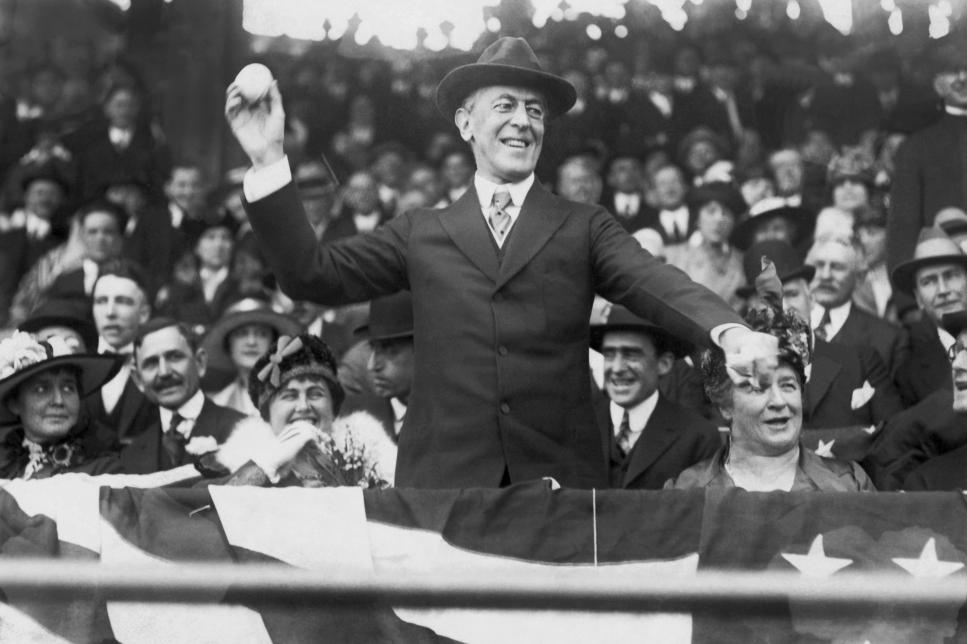 President Wilson Opens The Baseball Season