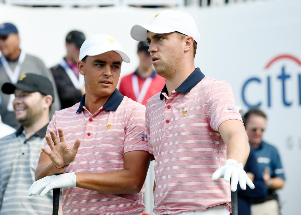 Rickie Fowler Justin Thomas Presidents Cup - Round Two