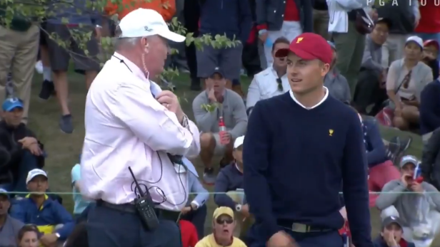 2017 Presidents Cup: Jordan Spieth disqualified from hole for ridiculous rule