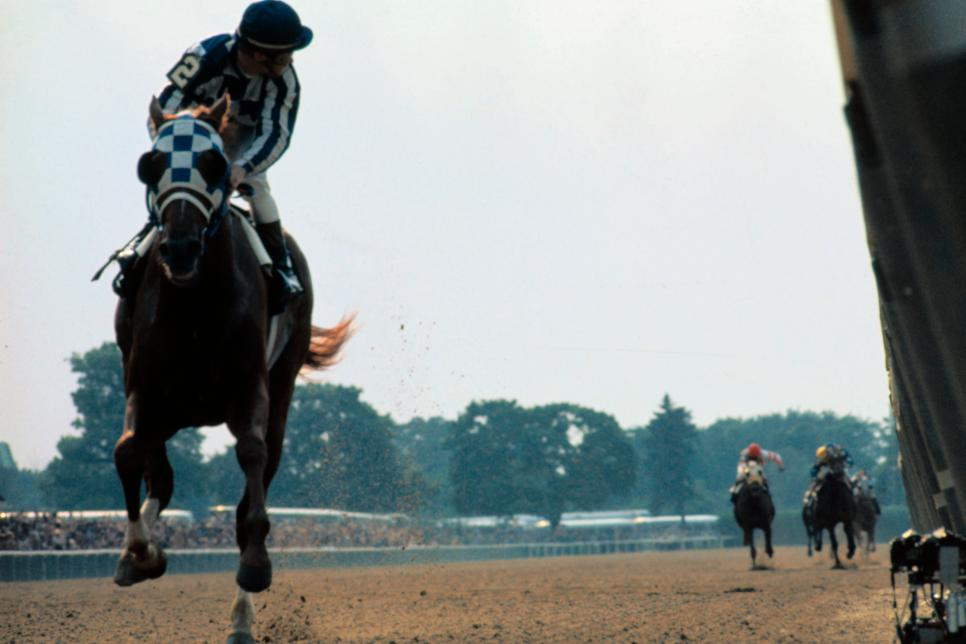 Secretariat Winning the Triple Crown