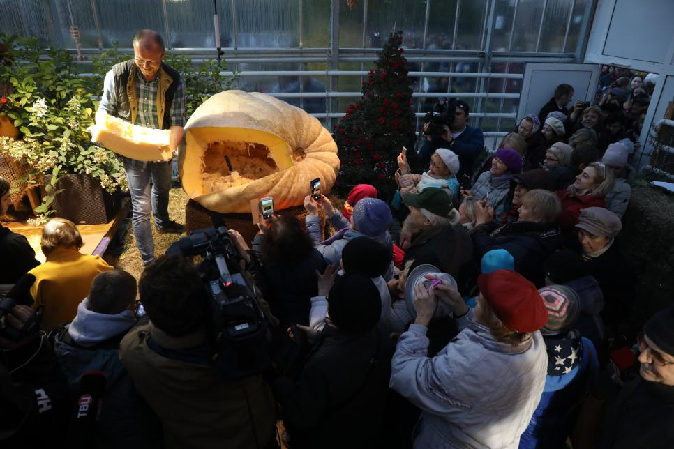 Largest Russian pumpkin brought to Moscow