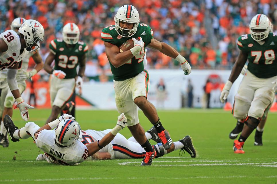 After tough start, Miami rallies for 44-28 win over Virginia