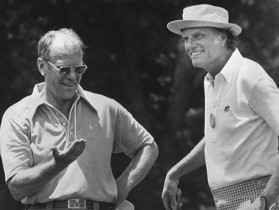 Gerald Ford and Billy Graham at Golf Course