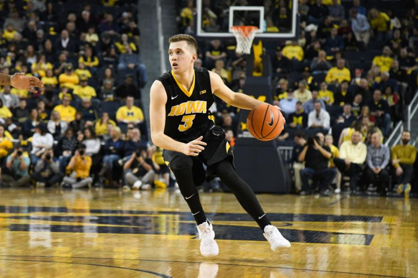 COLLEGE BASKETBALL: FEB 14 Iowa at Michigan