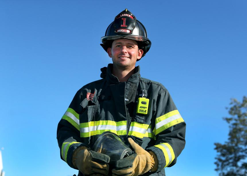 A firefighter's 15 minutes of fame