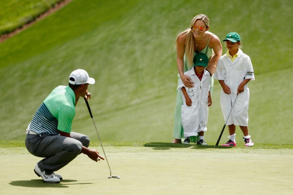 Tiger Woods Lindsey Vonn The Masters - Par 3 Contest