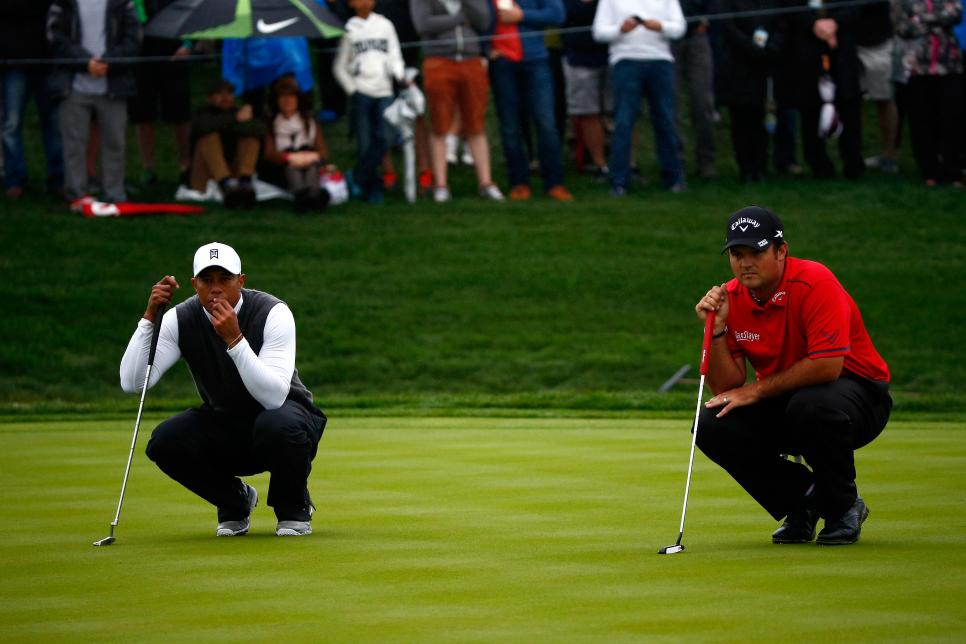 Tiger Woods Patrick Reed Waste Management Phoenix Open - Round Two