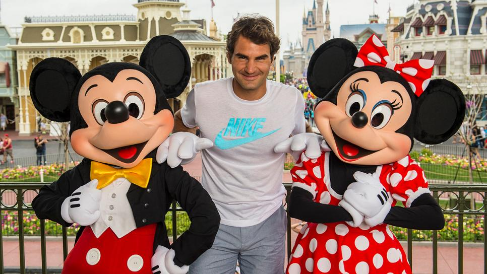 Roger Federer Visits Disney World