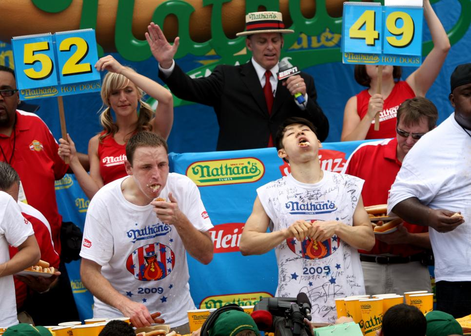 Champions Compete In Nathan's Annual Hot Dog Eating Contest